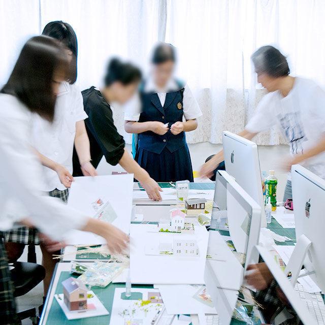 山形デザイン専門学校 【環境(建築)コース・模擬授業&体験実習】建築模型を作ろう!1