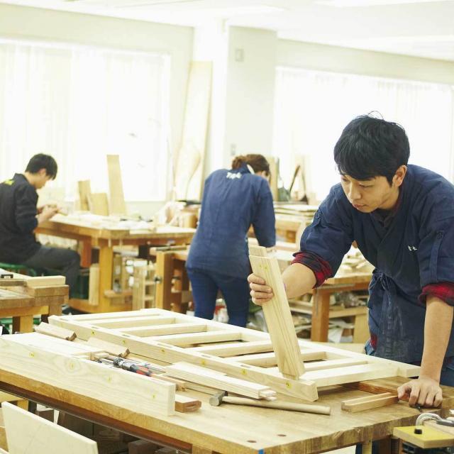 京都伝統工芸大学校 工芸体験キャンパス2018 木工芸1