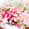 大阪ビジネスカレッジ専門学校 お花大好き!ピンク系でまとめたフラワーアレンジメント