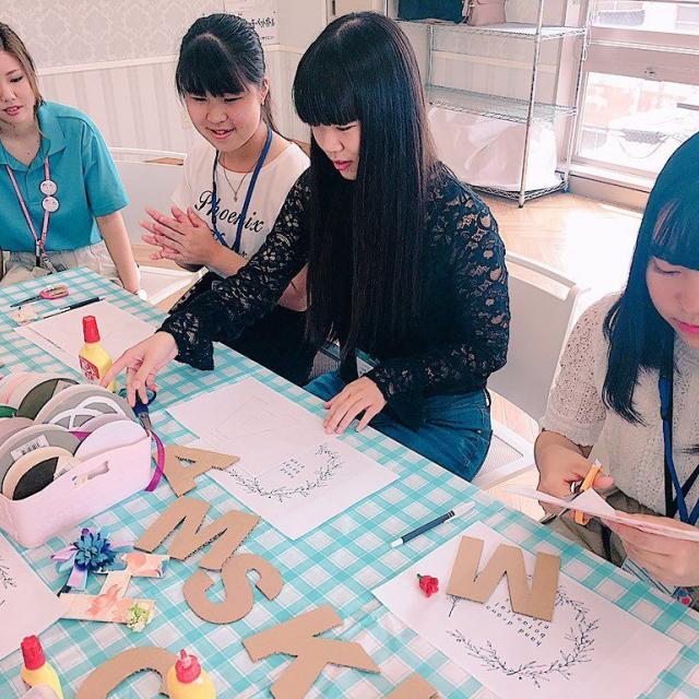 名古屋ウェディング&ブライダル専門学校 ★オープンキャンパス★キラキラヘアゴム作り2