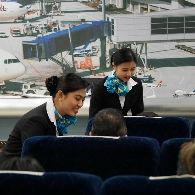 国際トラベル・ホテル・ブライダル専門学校 シュミレーションフライト☆エアライン科☆オープンキャンパス1
