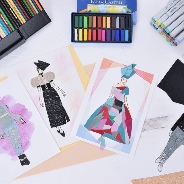 華服飾専門学校 デザインコラージュ体験1