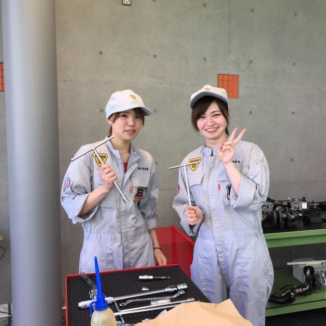 専門学校 花壇自動車大学校 クルマ好き女子のための女子見学会20183