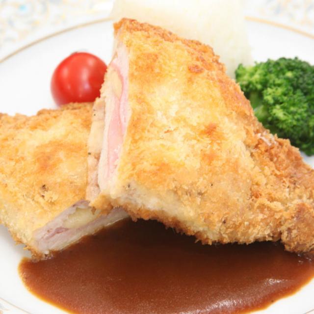 【西洋】ハムとチーズ入りポークカツレツ
