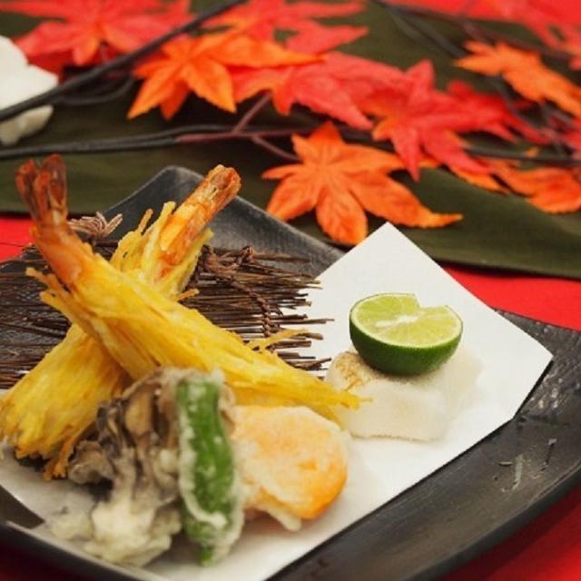 東京山手調理師専門学校 【日本料理】海老の但馬揚げ&柿の天ぷら1