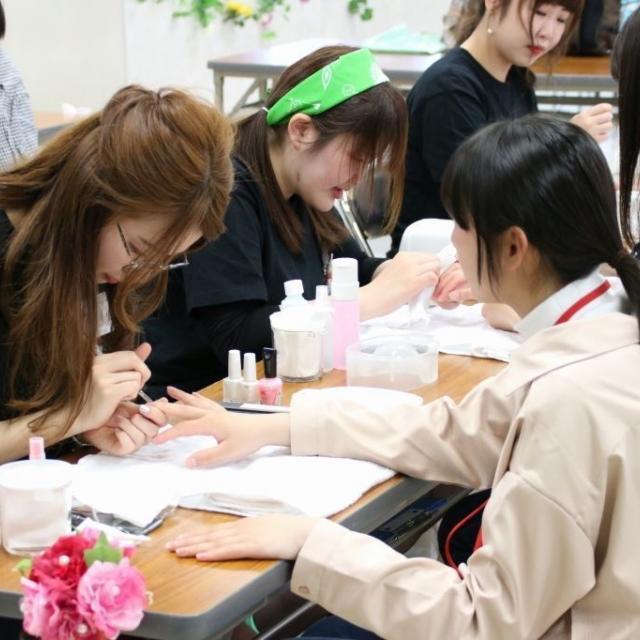 愛媛県美容専門学校 HIMEBI サロンDay  在校生から美容施術を体験☆彡2