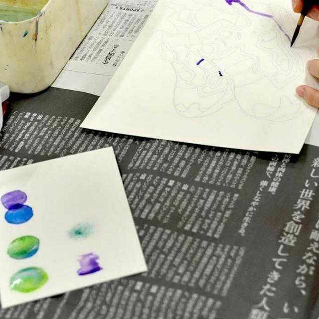 専門学校日本デザイナー学院 九州校 【高3・社会人限定5名!】水彩でイラストを描こう!2