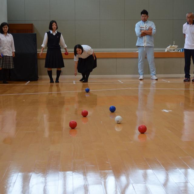 京都福祉専門学校 体験入学会 ~ 介護体験とボッチャボール ~1