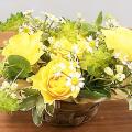 大阪ビジネスカレッジ専門学校 お花大好き!イエロー系でまとめたフラワーアレンジメント