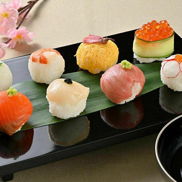 織田調理師専門学校 手毬寿司&蛤の吸い物1