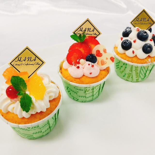 華調理製菓専門学校 【8月2日】製菓Aトロピカルフルーツパフェ&デコカップケーキ2