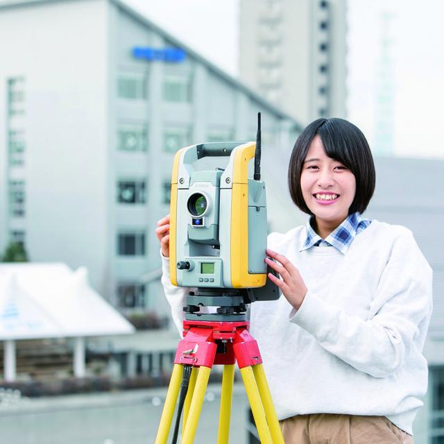 中央工学校 2019体験入学☆測量機器を使ってみよう!2