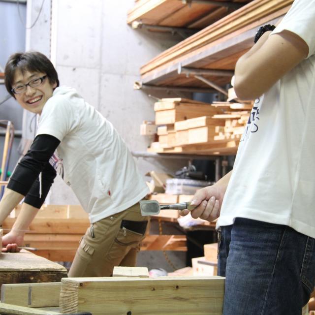 木工体験授業+町家改修現場見学