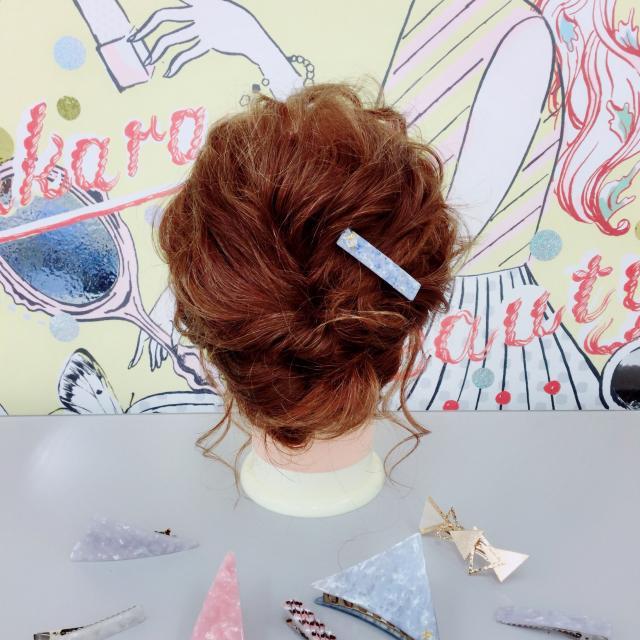 タカラ美容専門学校 ヘアメイクDAY♪+手作りヘアアクセ4