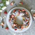 専門学校 福岡ビジョナリーアーツ 【フード】チョコといちごのリースパン