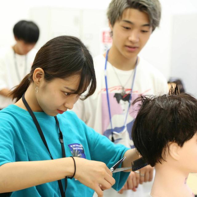 大阪ベルェベル美容専門学校 可愛い大人アレンジ&大流行フェイスフレーミングカラー1