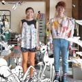 岡学園トータルデザインアカデミー ★Tシャツをリメイクしてみよう!★【リメイク/スタイリング】
