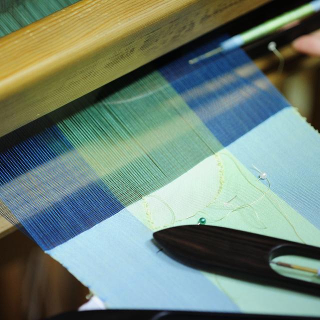 大原和服専門学園 体験入学会 織物 「コースターを織ってみよう!」1