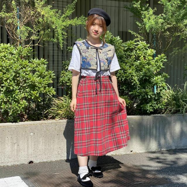 華服飾専門学校 在校生によるパネルディスカッション+スカート製作1