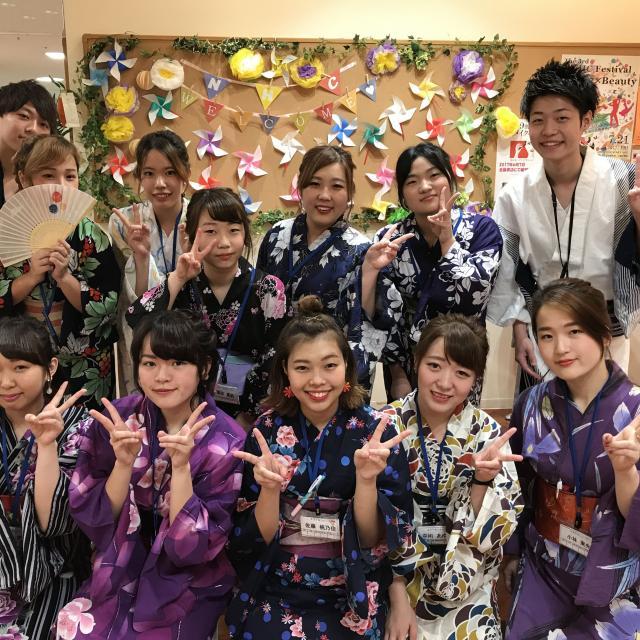 理容美容専門学校西日本ヘアメイクカレッジ 天神祭りに浴衣で出かけよう!!1