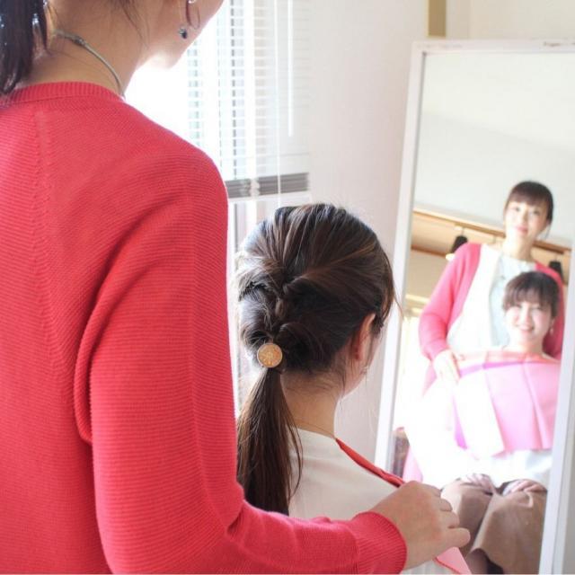 広島県理容美容専門学校 パーソナルカラー授業体験1