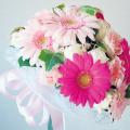 大阪ビジネスカレッジ専門学校 お花大好き♪ピンク系でまとめたフラワーブーケ
