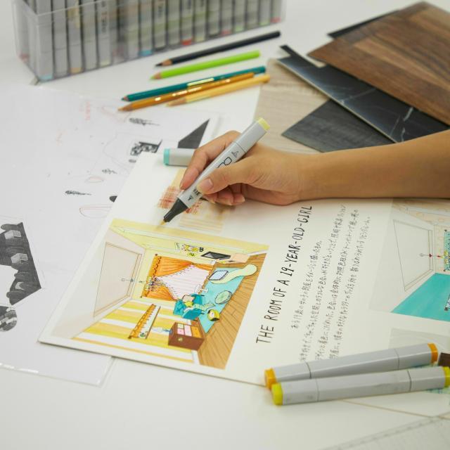 名古屋デザイナー学院 インテリアデザイン講座! 友達・家族と参加OK☆3