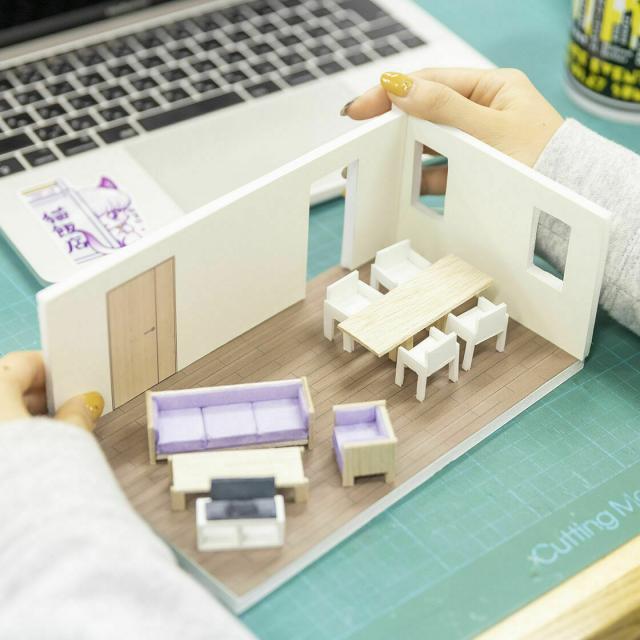 山脇美術専門学校 建築模型の制作体験♪7名以下で実施。交通費補助あり3