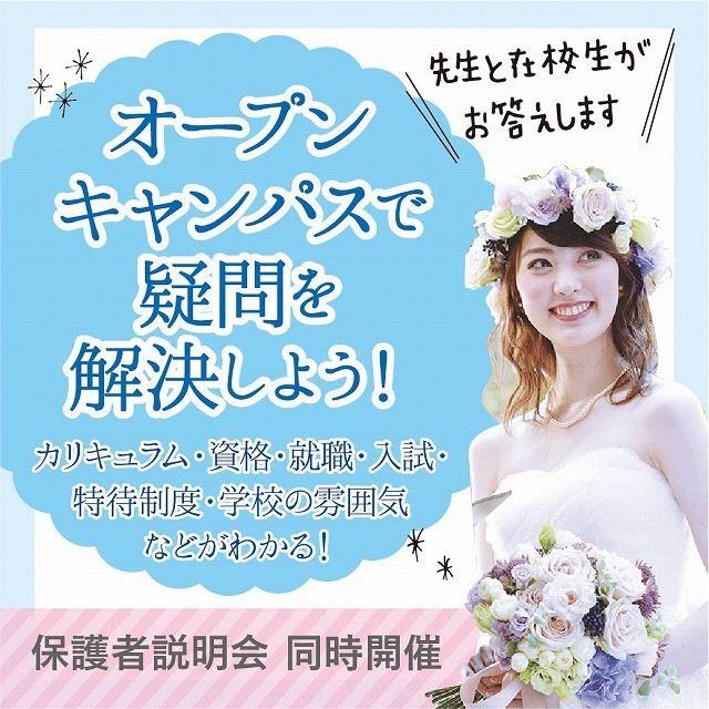 東京ウェディング&ブライダル専門学校 ☆オープンキャンパス・入試説明会☆1