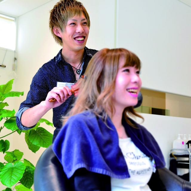 松本理容美容専門学校 ヘアフェスティバル いろいろな実習体験できますよ3