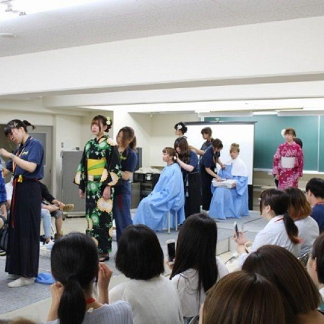 広島県理容美容専門学校 浴衣着付ショー3