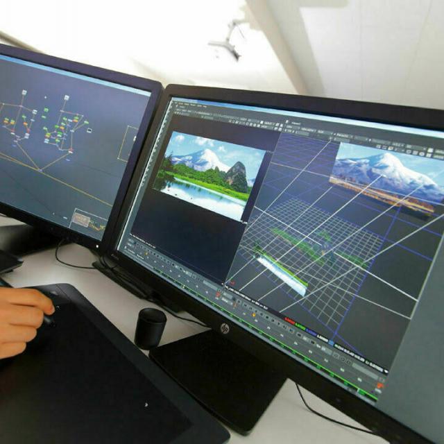 東京デザイナー学院 実写、CGの映画・ドラマの合成技術【Nuke】でデジタル合成1