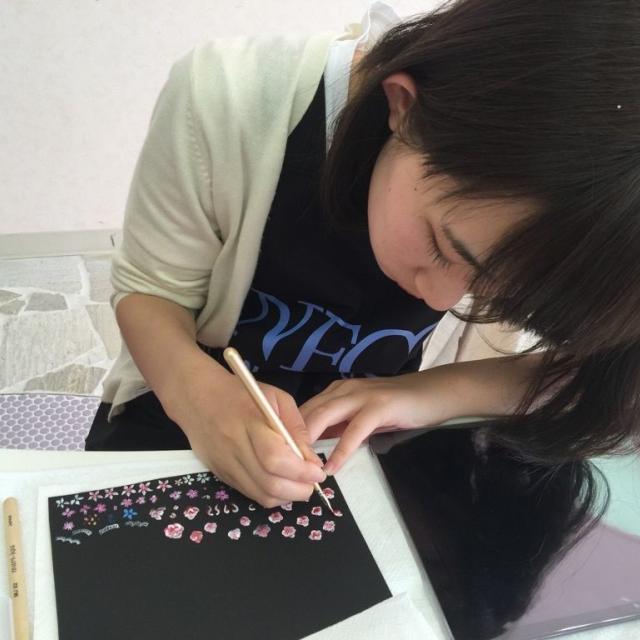 名古屋ファッション・ビューティー専門学校 自分だけのオリジナルネイルチップを作ろう!2
