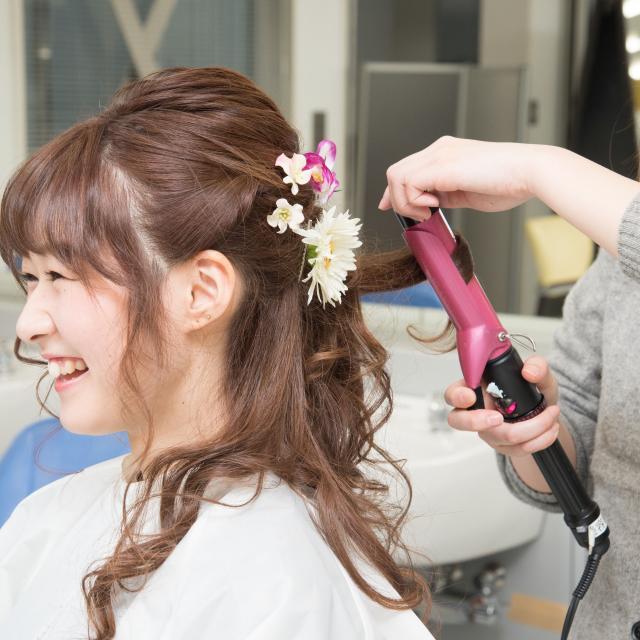 タカラ美容専門学校 ヘアメイクDAY♪+手作りヘアアクセ2