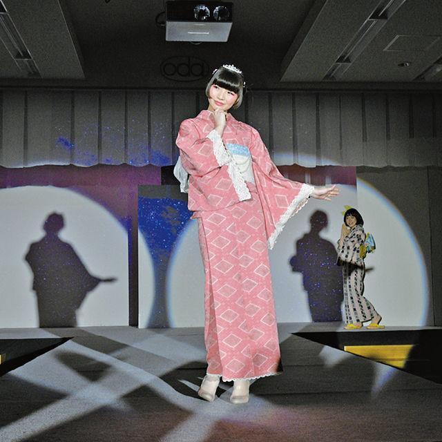 織田きもの専門学校 SUMMER FESTA(ショー+型染体験)1