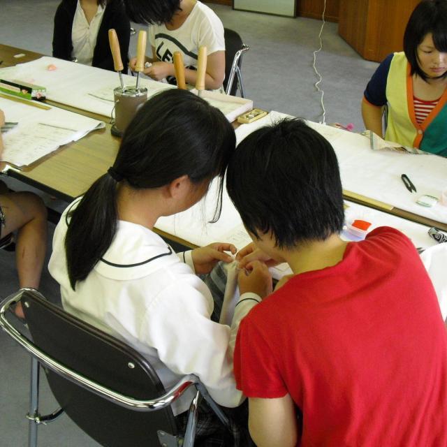 大原和服専門学園 体験入学会 和裁「浴衣を縫ってみよう!」1