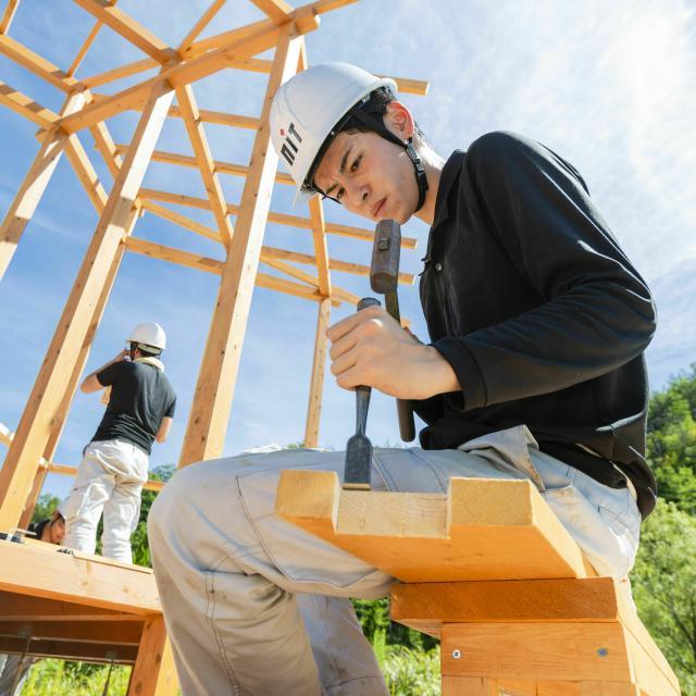 新潟工科専門学校 大工や、家づくりに興味がある方へ!【木材加工!大工体験】1