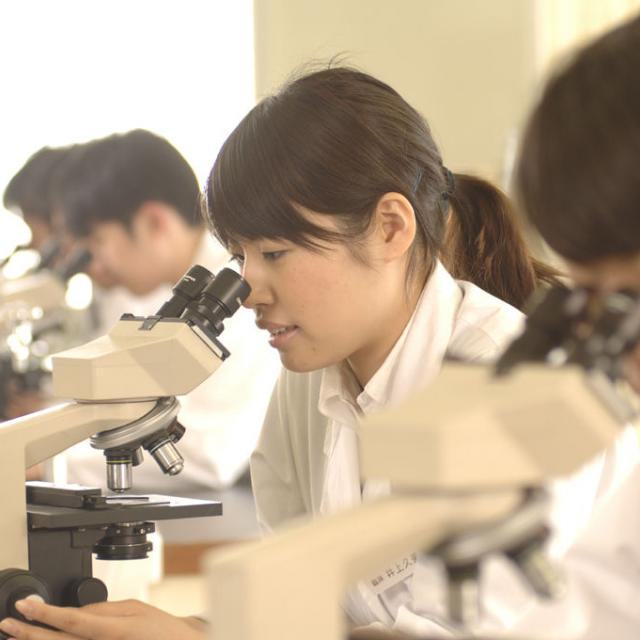 西武学園医学技術専門学校 オープンキャンパス(臨床検査技師科)心電図検査を体験1