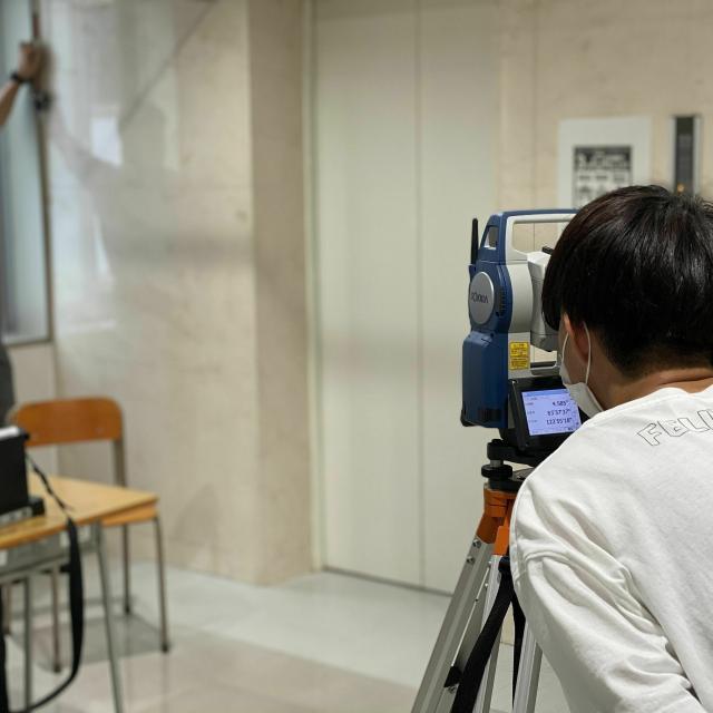 仙台工科専門学校 ドローン操縦+トータルステーションで測量体験!【測量学科】3