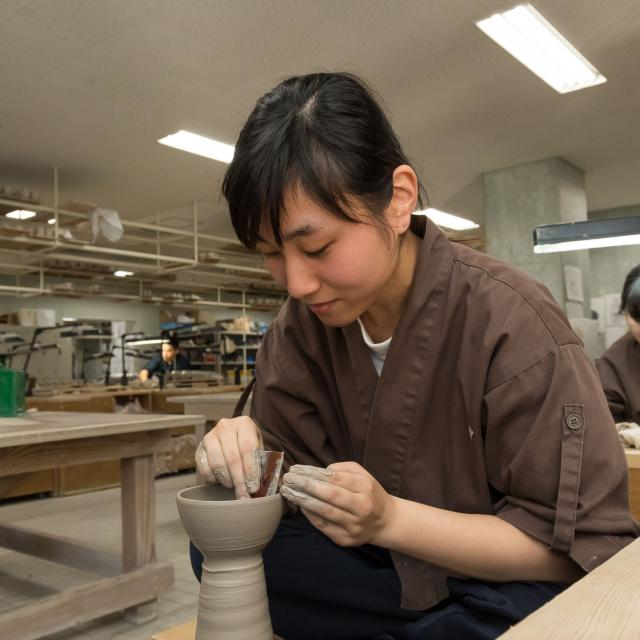 京都伝統工芸大学校 工芸体験キャンパス2018 陶芸1