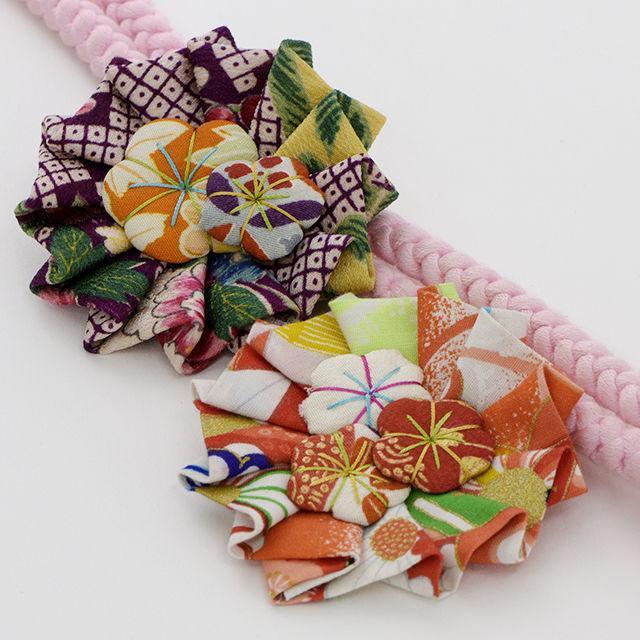 和布でロゼット作り&浴衣着付体験(変わり結びに挑戦)