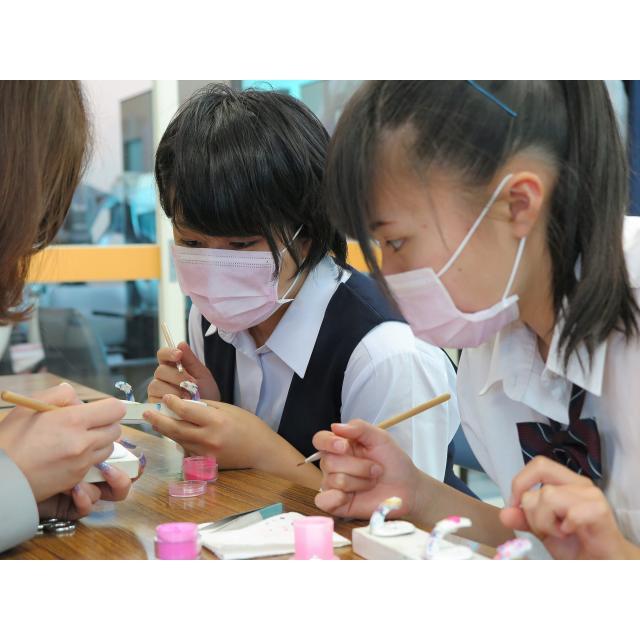 茨城理容美容専門学校 3Dネイルアート体験★1
