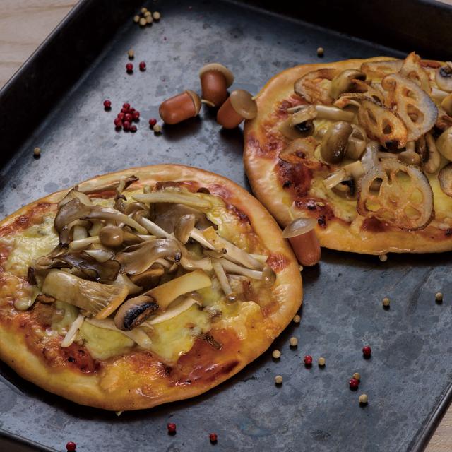 生地から作ろう!秋野菜のピザ作り