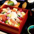 服部栄養専門学校 ちょっと豪華なおもてなし日本料理!ばらチラシと茶碗蒸し ほか