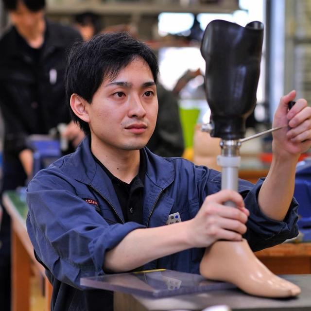 西武学園医学技術専門学校 東京新宿校 オープンキャンパス(義肢装具学科)体験用義肢4