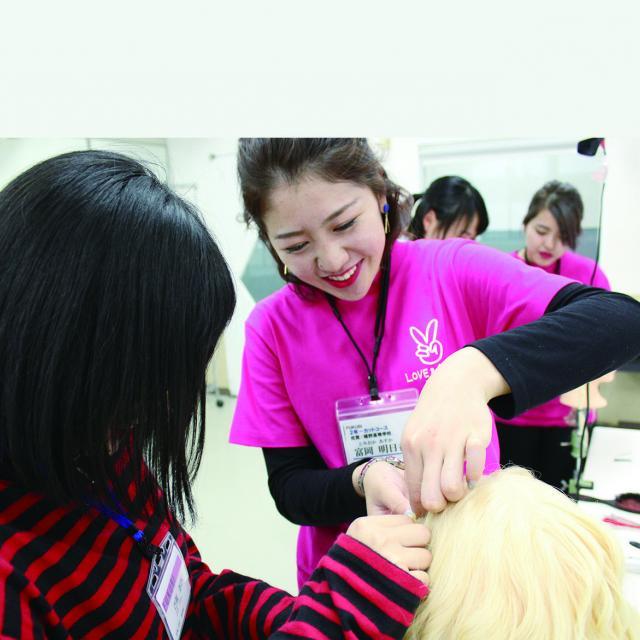 福岡美容専門学校 福岡校 資生堂プロフェッショナル HAIR MAKEUP LIVE4