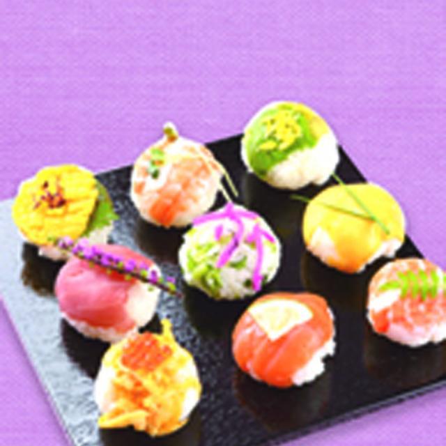 手まり寿司とお吸い物