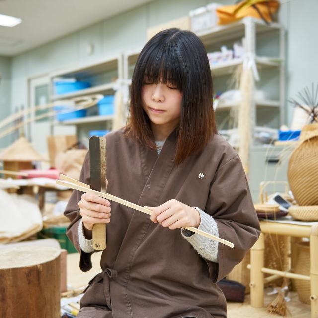 京都伝統工芸大学校 工芸体験キャンパス2018 竹工芸1