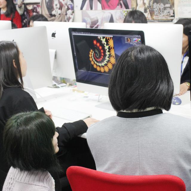 専門学校岡山ビジネスカレッジ CG・Web・アニメ学科オープンキャンパス3