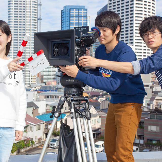 映画制作科の体験入学「映画制作体験」